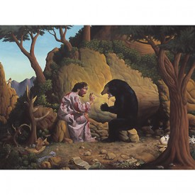 Print:  Jesus and the Bear